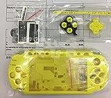 Full Housing Coque Housse avec boutons Vis Tournevis pour Sony PSP 20002001200220032004 jaune