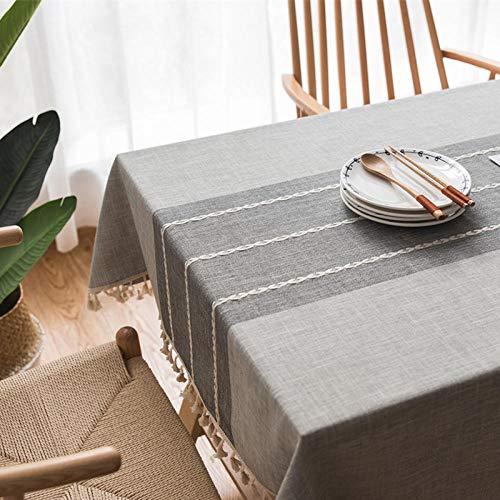 PENGBABY Mantel Bordado algodón Lino Japón Corea