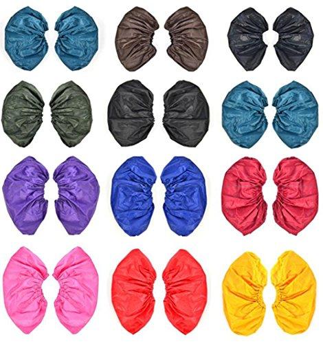 5Paar Überschuhe wasserdicht Überschuhe Regen dicker wiederverwendbar Elastic Band Poncho Tuch Schuhüberzieher (Band Poncho)