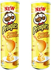 Pringles Potato Chips Cheesy Cheese, 165g (Pack of 2)