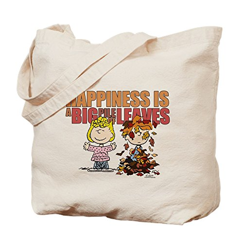 CafePress Peanuts Fall Leaves Tragetasche, canvas, khaki, M