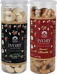 Ivory Cashew Nuts Combo of Masala & Plain Cashews (300 g)