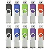 AreTop 10 stück 16GB USB Stick Speicher high speed USB 2.0 (Mehrfarbig-1)