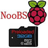 Speicherkarte für Raspberry Pi 3mit Raspberry Pi NooBS, 8GB, Klasse 10,MicroSDHC-Karte, aktualisierte Version des Betriebssystem 32 GB
