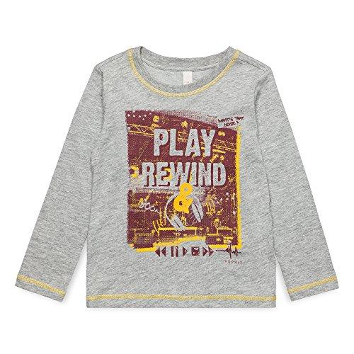 ESPRIT KIDS ESPRIT KIDS Jungen T-Shirt RM1002407, Grau (Mid Heather Grey 260), (Herstellergröße: 92+)