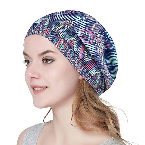 Alnorm Satin-gefütterte Schlaf-Slouchy-Kappe Kopfbedeckungen für Frauen Leichte Chemo-Mützen