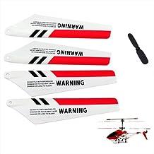 4 x Ala de Syma S107 S107G Gyro Helicoptero Control Remoto Repuestos de Reparacion ROJO