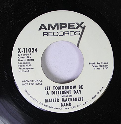 MAILER MACKENZIE BAND 45 RPM LET TOMORROW BE A DIFFERENCE DAY / MOVIN' (Record Vinyl Mailer)