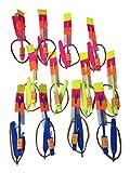 Lumière LED flèche Rocket Hélicoptère volant jouet fête cadeau amusant élastique Lot de 20