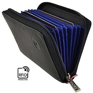 Mala Origin Collection 552_5 Kreditkartenetui aus Leder mit RFID-Schutz, beere (Pink) – 552_5
