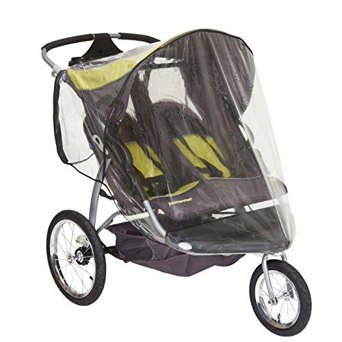 Sasha Kiddie BT - 3R Baby Trend Expedition Doppel Jogger mit Swivel Vorderrad (Modell 9165TW - Orange Oak) Babyjogger Regen und Wetter Cover - Kinderwagen nicht eingeschlossen