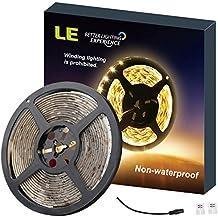 LE Tira LED 5m 300 LED 300lm/m Blanco cálido 3000K no impermeable