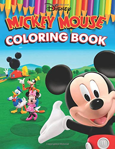 Mickey Mouse Coloring Book: 61 Exclusive Illustrations (Mickey Mouse Coloring Books)