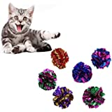 Mackur Crinkle Balls Katzenspielzeug Knisterbälle Interaktives Spielzeug 10 Stück
