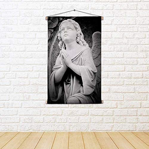ArtzFolio in Angel in ArtzFolio An Old Gothic Church Canvas Painting Tapestry Wall Hanging 24 X 36Inch 9b5ec9