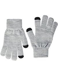 ONLY Damen Handschuhe Onlaline Knit Touch Gloves 2-Pack Noos 2 Schwarz (Black Detail:2-Pack Black and Light Grey Melange), One Size