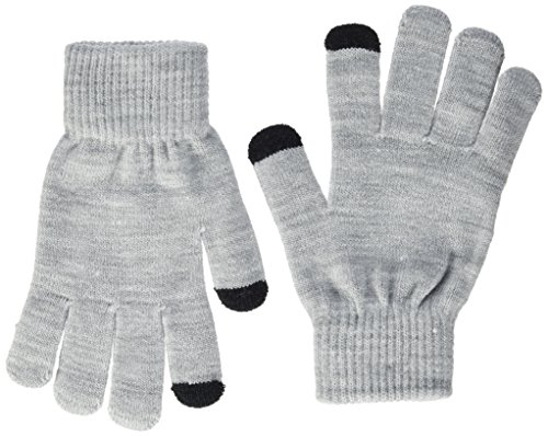 Only Onlaline Knit Touch Gloves Noos, Guantes para Mujer, Negro Detail:2-Pack Black and Light Grey Melange, Talla única