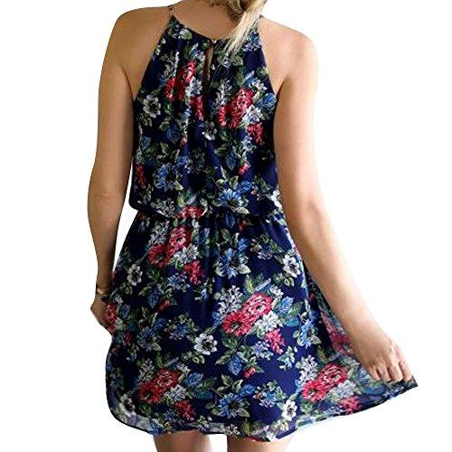 DOLDOA Frauen Camisole Blumenband Mini Kleid (EU: 42 Fehlschlag: 94cm / 37.0