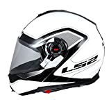 LS2 Flip up Helmet 386 Armory Gloss Black White-L