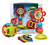 Playgro 40177 Baby del gioco e sonaglio regalo set, multicolore