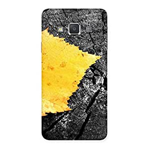 Premium Lonely Leaf Multicolor Back Case Cover for Galaxy A3