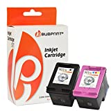 Bubprint 2 Druckerpatronen kompatibel für HP 901 XL HP901 901XL HP901XL für Officejet J4500 J4524 J4535 J4580 J4585 J4624 J4660 J4680 Black Color