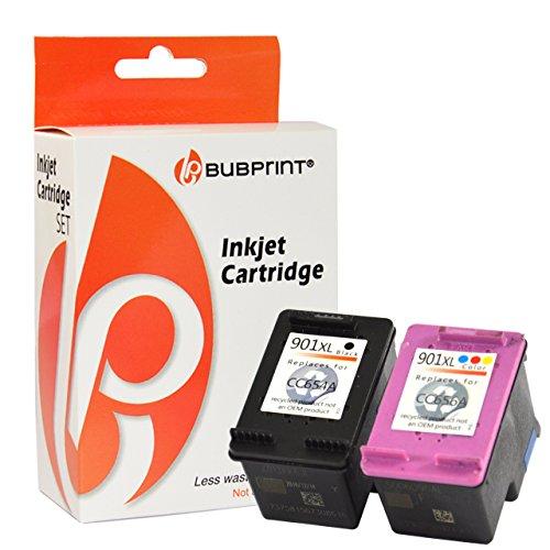 Bubprint 2 Druckerpatronen kompatibel für HP 901 XL HP901 901XL HP901XL für Officejet J4500 J4524 J4535 J4580 J4585 J4624 J4660 J4680 Black Color (Farbe-jet Serie Drucker)