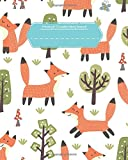 Primary K-2 Creative Story Journal: Cute Forest Foxes 8x10 Softcover Write & Draw Primary Ruled Book 160 Pages