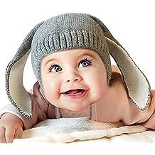 MissSoul Lindo Bebé Tricotar Gorras Funny Bunny Conejo Patrón de los Niños de Invierno Caliente Casquillos Toddler oído Muffs