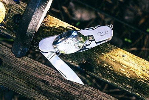 OPUL Navaja Suiza Juego de Cubiertos Camping - 12 Funciones, Navaja, Tenedor, Cuchara para Vajilla Camping - Navaja con… 8
