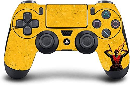 PS4 Dualshock Wireless Controller Pro Konsole Playstation4 mit weichem Griff & Exklusive, individuelle Version Skin Nicht modifiziert (Ps4-Yellow Ninja)