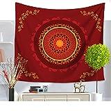 Retro Tapisserie wandteppich indisch Mandala hippie Bohemien Orientalisch wandtuch wandbehang Tapestry Weiß Tapisserie