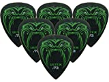 Dunlop plettri per chitarra Black Fang James Hetfield Confezione da 6 .73 mm White Black Red Blue