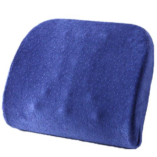 Dark Blue Memory Foam Seat coussin lombaire Oreiller Retour Pad Pour Office