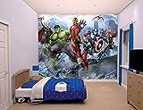 Familie24 XXXL Wandbild 243 x 305cm AUSWAHL Kindertapete Tapete Wanddekoration Wandbild Wandaufkleber Wandtattoo Feuerwehrman Sam Spiderman Minnie Micky (Avengers)