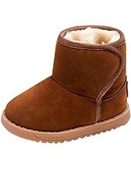 Zapatos de niños de invierno Zapatos de bebé - Juleya Botas de invierno con botas de nieve forrada caliente Botas de niño