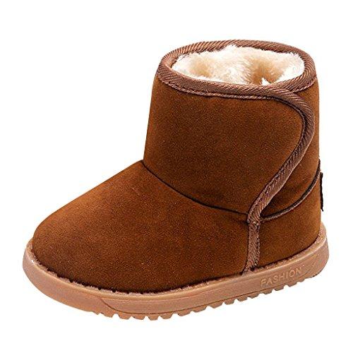 Fell Gefüttert Mit Stiefel (Winter Kinderschuhe Babyschuhe - Juleya Winter Stiefel mit Warm Gefüttert Schneestiefel Kleinkindschuhe Fell Boots)