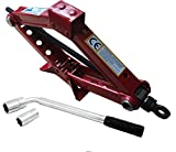 XtremeAuto Universal 1.5T Scissor Lift Jack With Extension Wheel Brace Bar For Road
