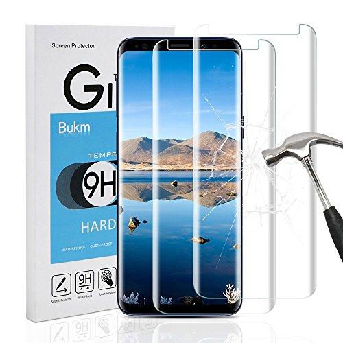 Preisvergleich Produktbild Galaxy S9 Schutzfolie Panzerglas,  [2 Stück]Bukm Samsung Galaxy S9 Panzerglas Glas Displayschutzfolie Schutzglas Displayschutz Screen Protector für Galaxy S9 [0.25mm 2.5D 9H Härtegrad]