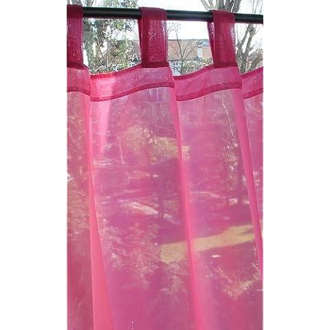 Just Contempo - Cortina de gasa (incluye abrazadera, 147 cm de ancho), Panel 1,47  x 1,83 m, rosa cereza