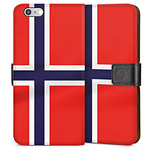 Apple iPhone 4 Housse Étui Silicone Coque Protection Norvège Norway Drapeau Sideflip Sac