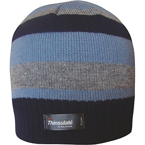 Boys-Striped-Design-Thermal-Knit-Fleece-Lined-Thinsulate-Winter-Beanie-Hat