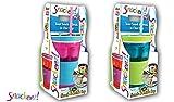 Snackeez! 2in1 Snack- & Trinkbecher Joghurt-Müsli-Becher Cup to go Snackbecher, Farbe:Pink/Türkis