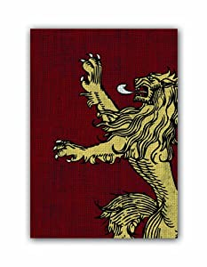 Fantasy Flight Games-A A Game of Thrones Art Sleeves: House Lannister, Color (HBO03)