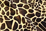 Stoff Giraffenmuster Tiermuster Polyester Velboa Kunstfell Velours Kleid Polstermöbel