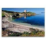 Calvendo Bahía Solitaria con Torre, 120 x 80 cm