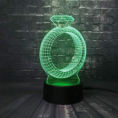 Romantische 24 Karat Diamant Design 3D Usb Led Lampe Multicolor Stimmung Atmosphäre Gradienten Nachtlicht Requisiten Sweet Lover Geschenk