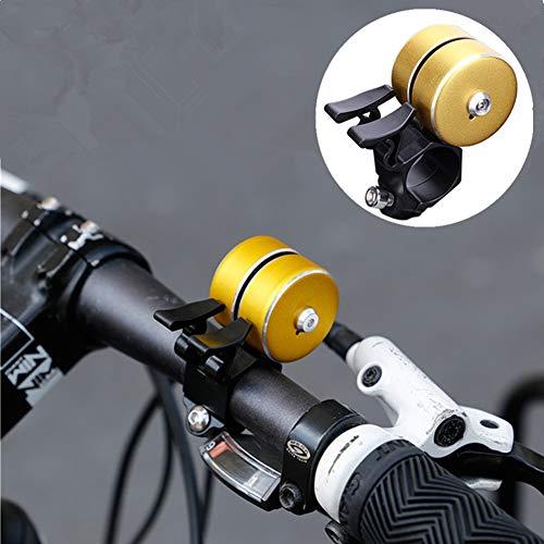 FCUCKDANN Campanella per Bicicletta Anello Bici, Bike Bell Mini Lega di Alluminio Chiaro Chiaro Forte Suono Corno per Scooter Cruiser ebike Triciclo Mountain Road Bike MTB BMX