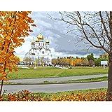 YKCKSD Puzzle 1000 Teile Stadt-Kathedralen-Herbstbaum Russlands Togliatti Für Hauptdekor
