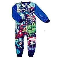 Boys Fleece Character Onesie Pyjamas Kids Childrens All in One Sleepsuit PJ